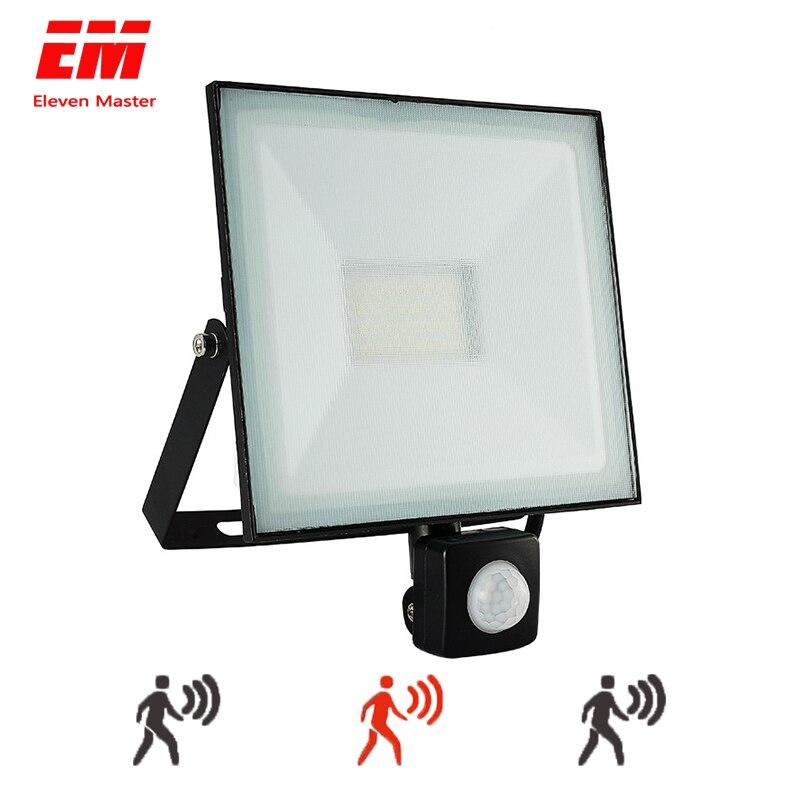PIR Infrared Motion Sensor LED Flood Light 20w 30w 50w 100W 220V 110V Reflector LED Lamp Floodlight For Outdoor Lighting ZFG0007
