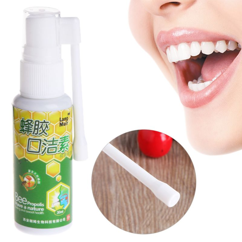 30ml Bacteriostatic Oral Care Spray Stop Bad Breath Stench Clean Mouth Freshener