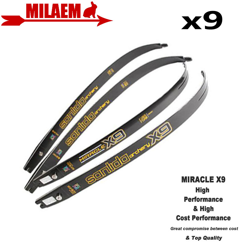 1pair Archery X9 ILF Recurve Bow Limbs Lntermediate ILF Limbs Graphite Foam 20 46Lbs Recurve Bow Hunting Shooting Accessories-in Bow & Arrow from Sports & Entertainment