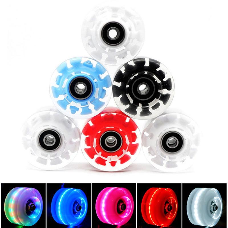 Double-row Roller Skates Luminous Wheel Roller Skates Flashing Wheels Roller Skates Wear-resistan Accessories Skateboard