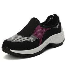Случайные женщины кроссовки удобная весна осень новый противоскользящим дышащий дамы квартиры обувь скольжения 2020 на Женщина платформы мода