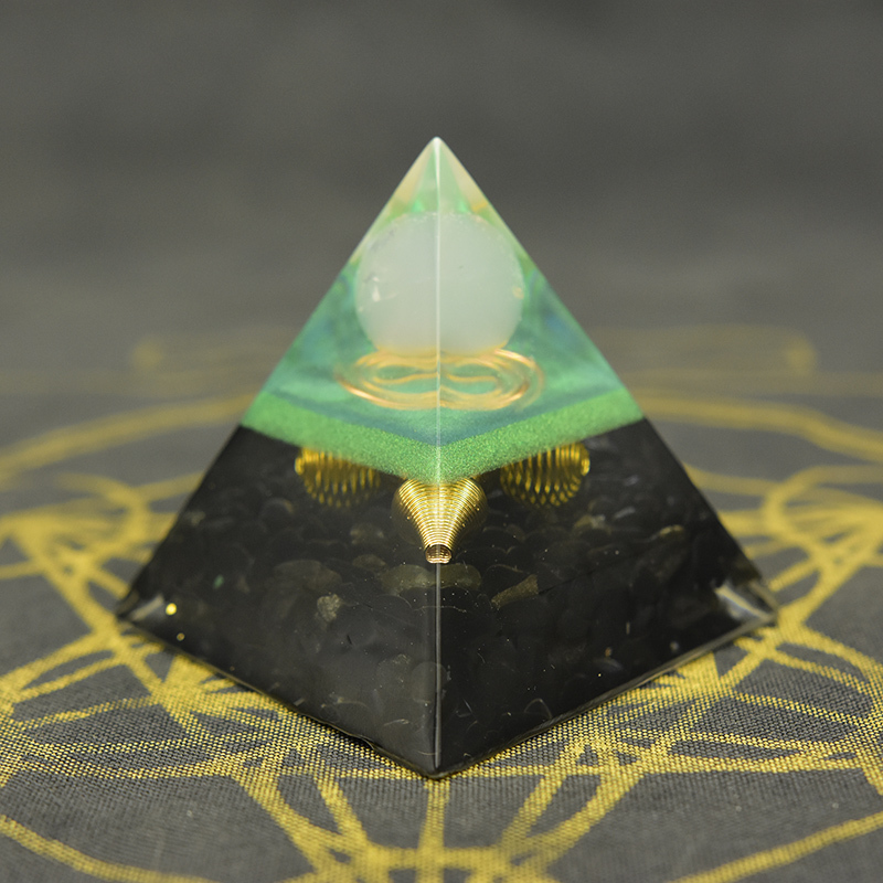 Full Moon Rose Quartz Pyramid