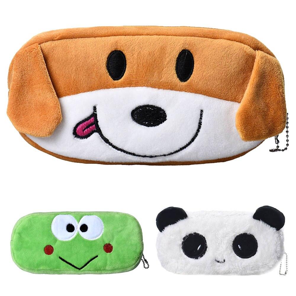 #H30 Cartoon Plush Pencil Case Kawaii Stationery Plush Dog School Office Supplies Pencil Bag For Kids Pencil Box Christmas Gift