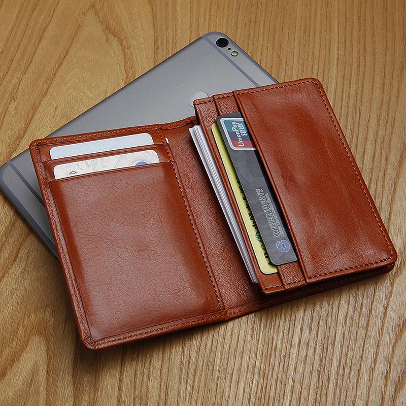 LANSPACE Italy Leather Men's  Card Holder High Quality Business Card Fashion  Coin Purses Holders