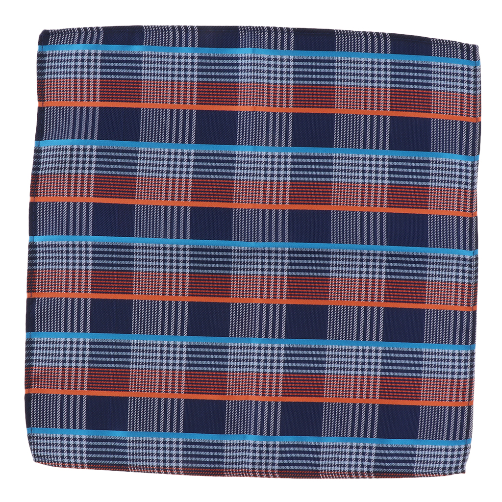 Men Plaid Cotton Handkerchief Classic Hankies For Gentlemen,Grandfathers,Fathers,Dads