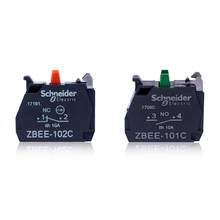 цена на Button switch auxiliary contact green normally open ZBEE101C red normally closed ZBEE101C contact base 10A accessory