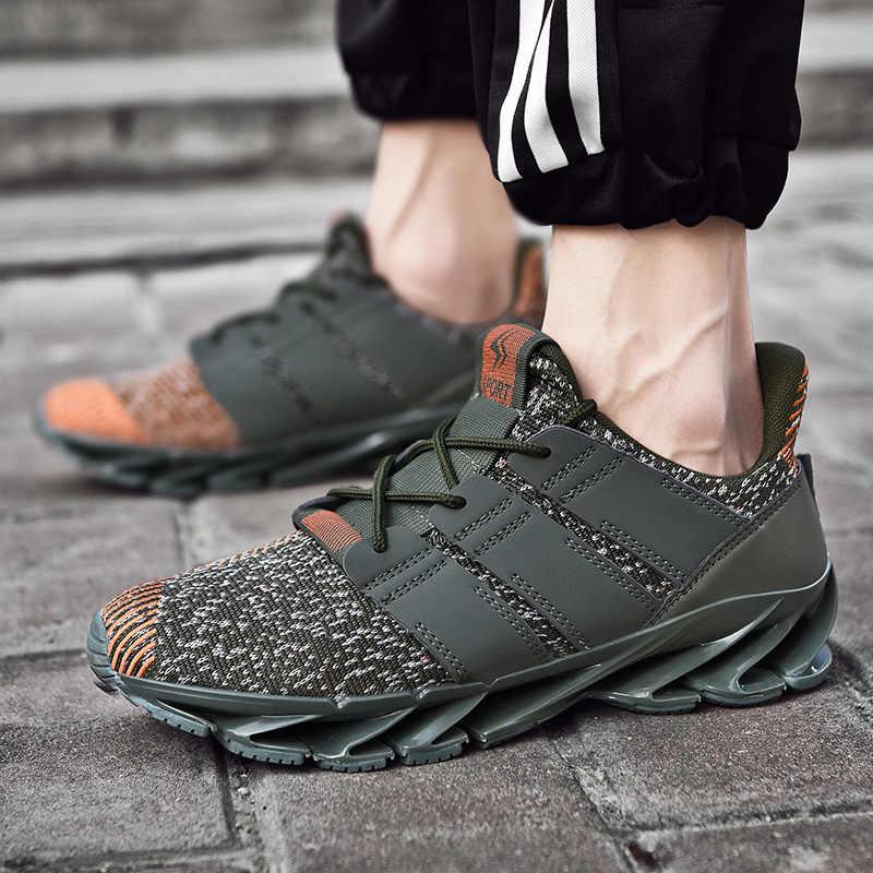 2020 bahar erkekler koşu ayakkabıları spor ayakkabı örgü bıçak ayakkabı çift rahat kamuflaj Sneakers kadınlar eğilim vahşi katı Tenis Masculino