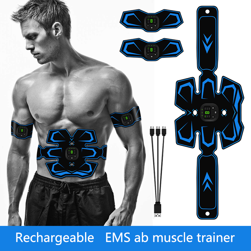 Usb wiederauf ladbare ab stimulator trainer arm bauch muskel trainings toner