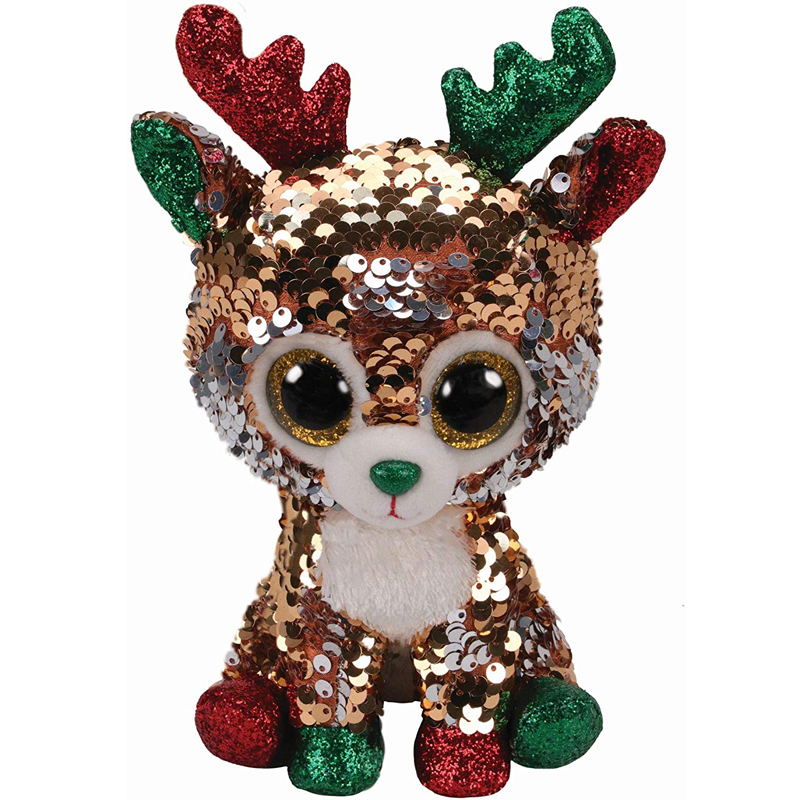 Ty Tegan The Reindeer Flippable Series Plush Animal Toys Stuffed Christmas Special Doll Gift 15cm