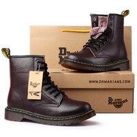 Top quality split Leather Women Boots Brand Snow Boots Winter Boot Fur Warm Comfortable Women Shoes Dr Martins Couple Shoes