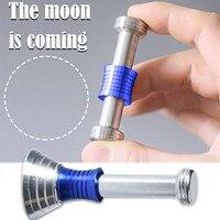 Chico Fidget Spinner juguetes dedo Moondrop Anti-estrés de Metal Flip Fidget magia Multicolor de alivio de estrés divertido autismo juguete de escritorio de regalo
