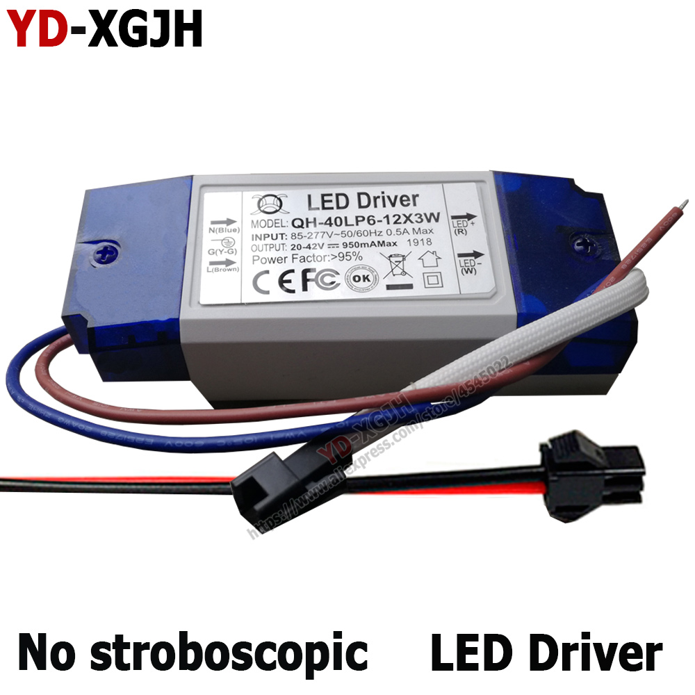 Constant Current Driver for 10-18pcs 3W High Power LED AC85-265V 40w 600mA