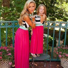 Семейная подходящая одежда зимние платья для мамы и дочки платье