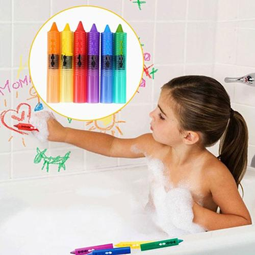 DIY 6 Pcs Baby Kids Safety Washable Bath Crayons Bathtime Fun Educational Toys 2019 New