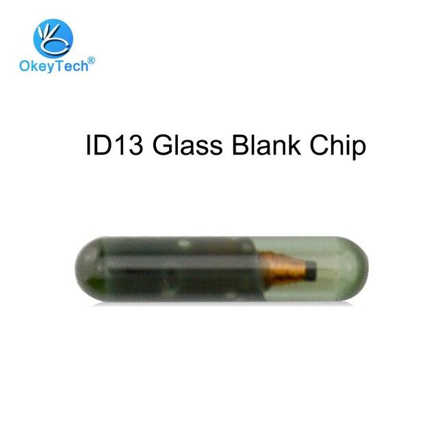 OkeyTech puce pour clé de voiture | Transpondeur ID13, puce en verre blanc pour Audi Fiat Honda Saab Volkswagen Kia Skoda Peugeot Auto Fob, accessoires
