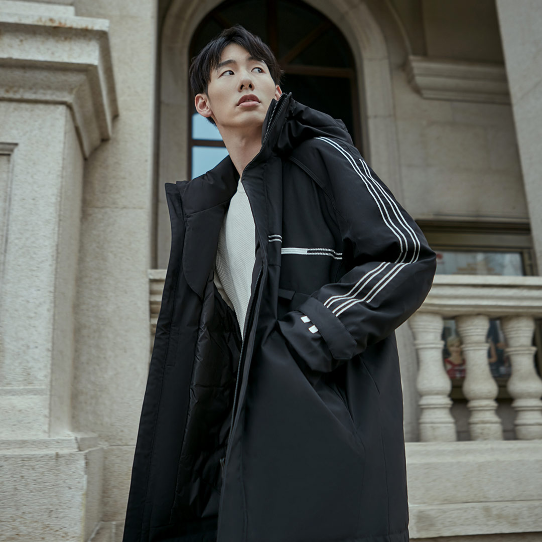 Xiaomi 90Fun moda 3D bordado 90% pato abajo chaqueta Ipx4 impermeable Anti perforación tela con capucha hombres abajo chaquetas abrigos - 2