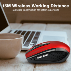 Hot Sale 3 Adjustable DPI 2.4G Wireless Gaming Mouse 6 Buttons Laptop Notebook PC Cordless Optical Game Mice