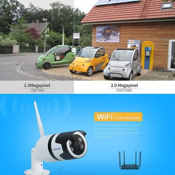 QF508 HD 1080P Wireless Wifi IP Camera Outdoor Waterproof Security InfraredAngle of View:75.7Compression:H.264 Bulllet Camera