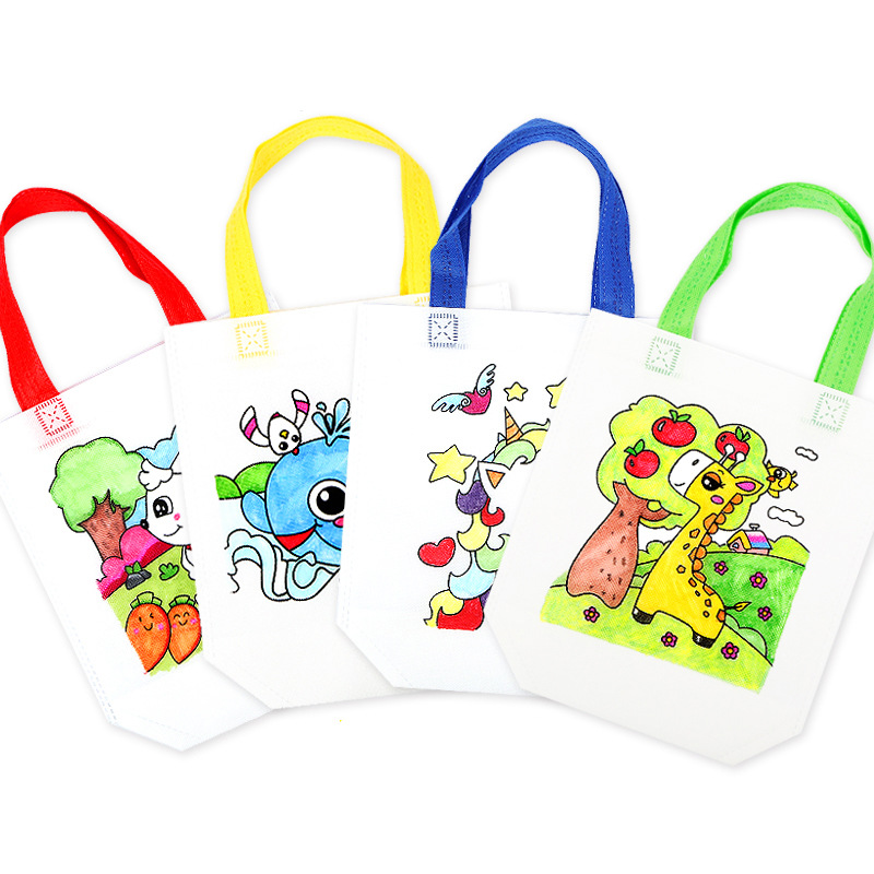 Non-woven Graffiti Bag Diy Art Environmental Protection Bag Creative Teaching Aids Children Handmade Painting Materials