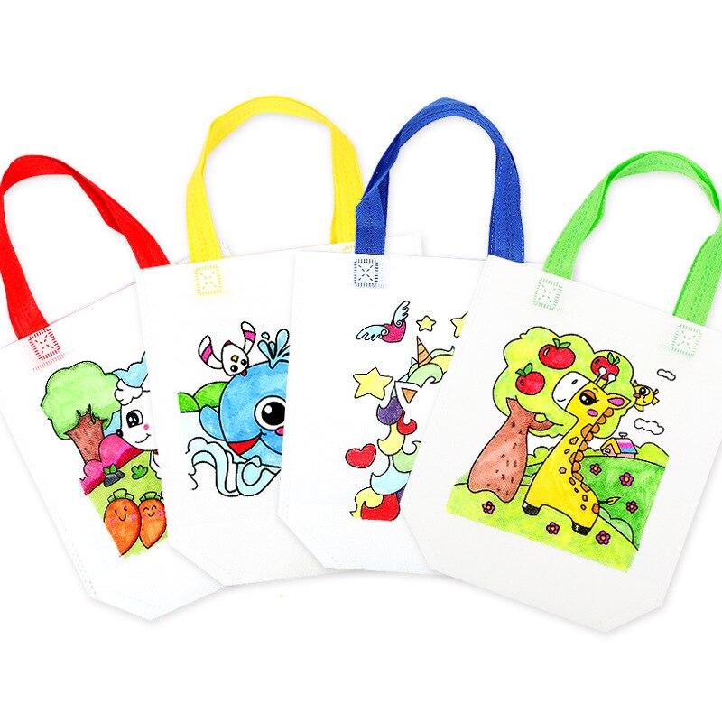 Non-woven Graffiti Bag Diy Art Environmental Protection Bag Creative Teaching Aids Children Handmade Painting Materials