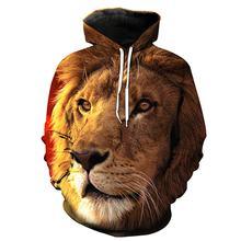 2020 Новые мужские толстовки с 3d принтом Король Лев леса повседневные