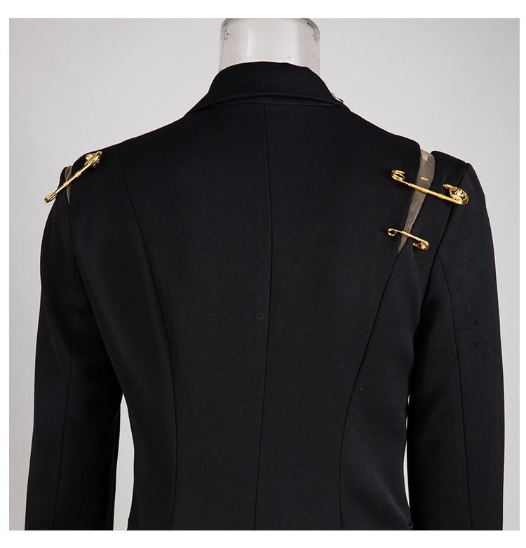 Hd633c9fc86e64991b176249d10bd6d542 [EAM] Loose Fit Black Hollow Out Pin Spliced Jacket New Lapel Long Sleeve Women Coat Fashion Tide Autumn Winter 2019 JZ500