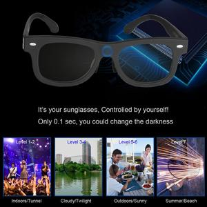 Image 2 - 2020 אלקטרוני Diming משקפי שמש LCD מקורי עיצוב נוזל קריסטל מקוטב עדשות במפעל ישיר אספקת פטנט טכנולוגיה