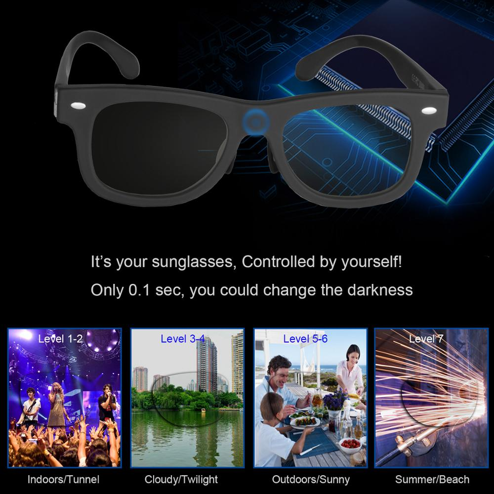 Image 2 - 2020 Electronic Diming Sunglasses LCD Original Design Liquid Crystal Polarized Lenses Factory Direct Supply Patent TechnologyMens Sunglasses   -