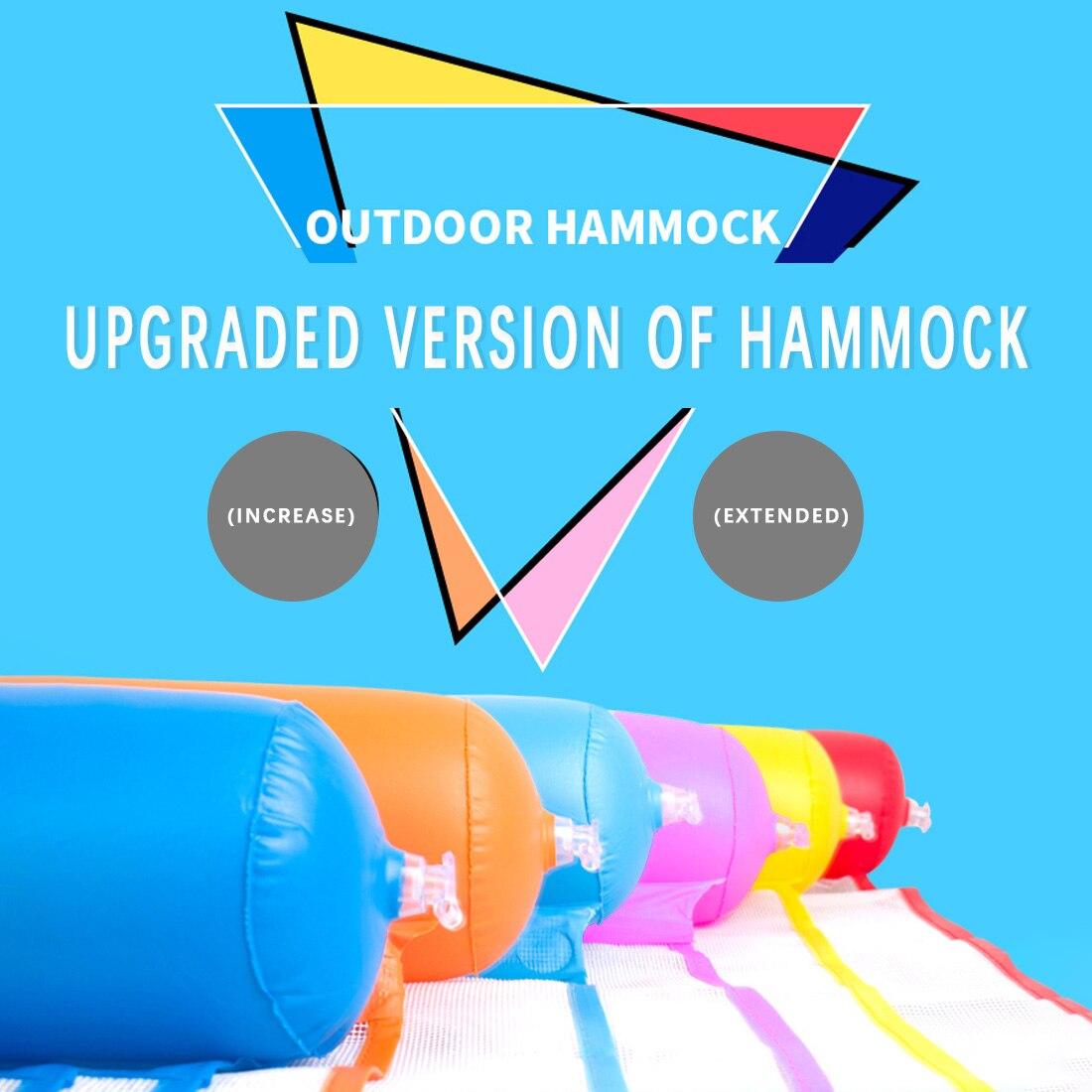 Купить с кэшбэком Water hammock  New Summer Foldable Floating Row Swimming pool inflatable floating Air Mattress Swimming Pool Seat with Hand Pump