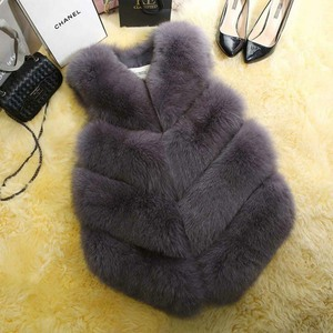 Image 3 - 2020 New Fashion Fur Coat Women Plus Size Faux Fur Gilet Waistcoat Winter Thick Warm Outerwear Fur Gilet Overcoat Jacket Female
