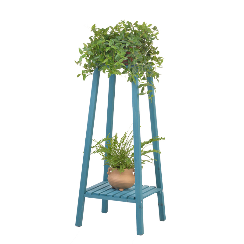 Landing Type Double-deck Airs Wood Living Room Flowerpot Frame Two Layer Chlorophytum Single Solid Wood Indoor  Botany Frame