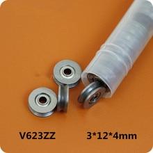 Fixmee 10pc HCS V Groove Sealed Ball Bearings Vgroove 3 X 12 X 4mm 1mm Deep
