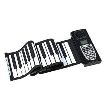 Portable 61 Keys Roll-Up Piano USB MIDI Keyboard MIDI Conctroller Hand Electronic Piano