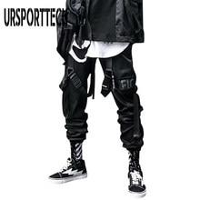 Nouveau Streetwear hommes Multi poches Cargo sarouel Hip Hop décontracté mâle survêtement pantalon Joggers pantalon mode Harajuku hommes pantalons
