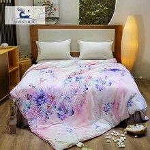 Liv-Esthete Pritend Flower 100% Natural Mulberry Silk Duvet Comforter Filled Four Seasons Blanket Double Queen King Quilts