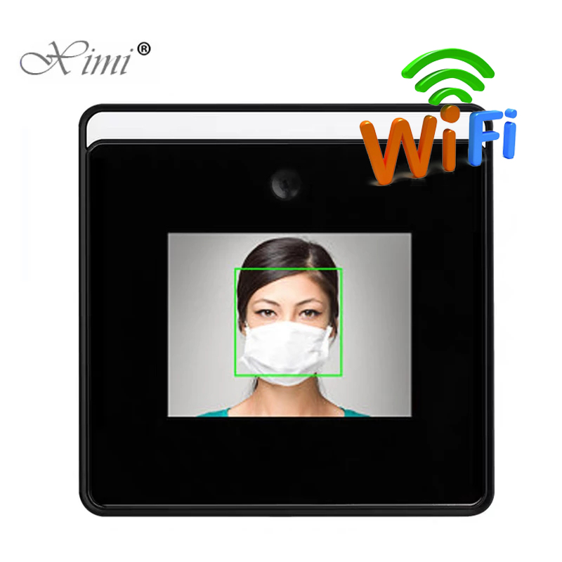 2.8 inch Touch Screen wifi Temperature measurement face recognition terminal Employee  face dynamic Time attendance