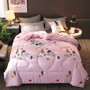 Soft Quilts 200*230cm Home Bedding Winter Blanket New Winter Comforter Freshness Style Thicken Duvet 100% Washed Cotton