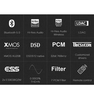 Image 2 - ציפוי D50S USB DAC הכפול ES9038Q2M Bluetooth 5.0 HiFi אודיו שולחן עבודה מפענח היי res PCM 32bit/768k DSD512 LDAC/AAC/SBC/aptX