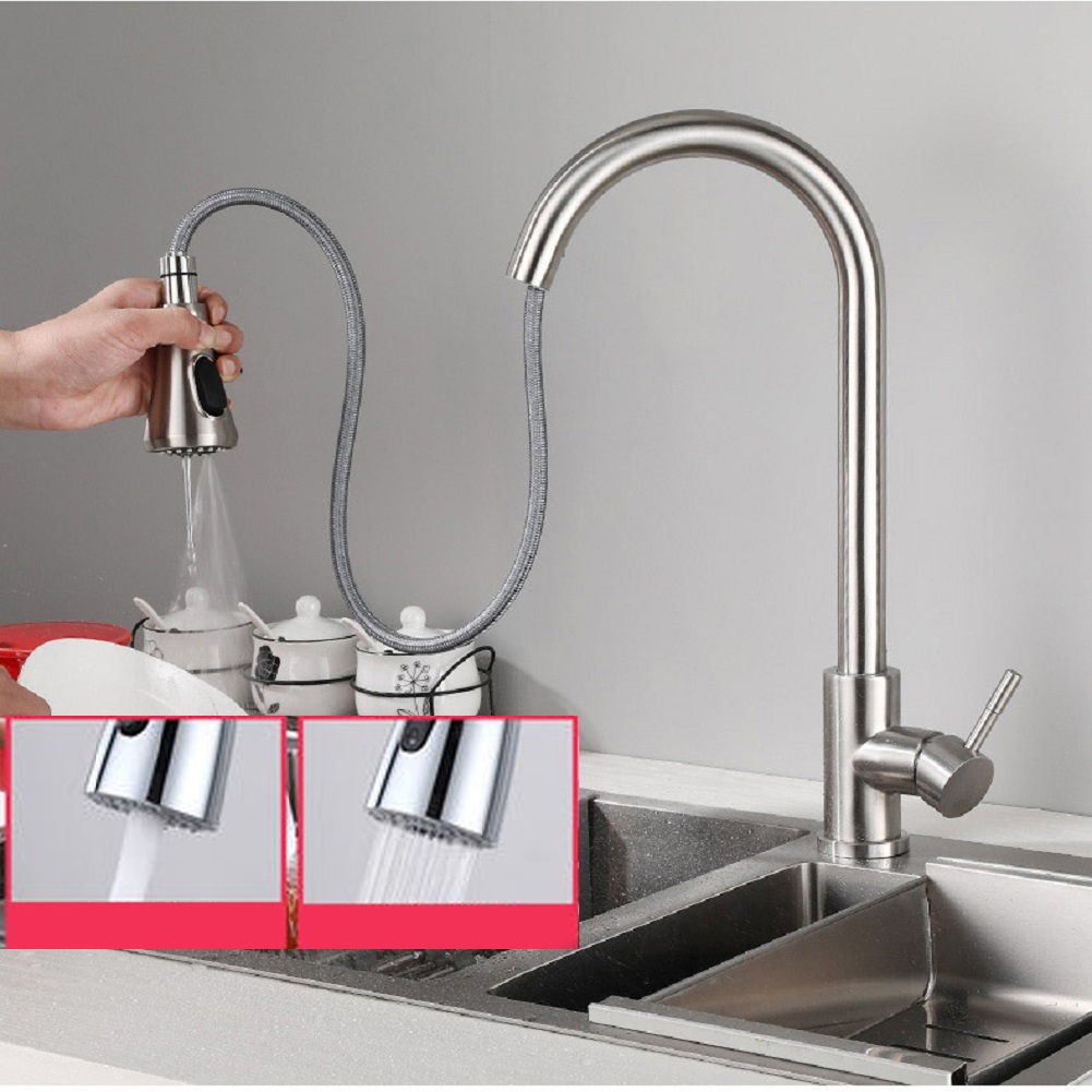 Low profile kitchen faucet with sprayer kes shower valve
