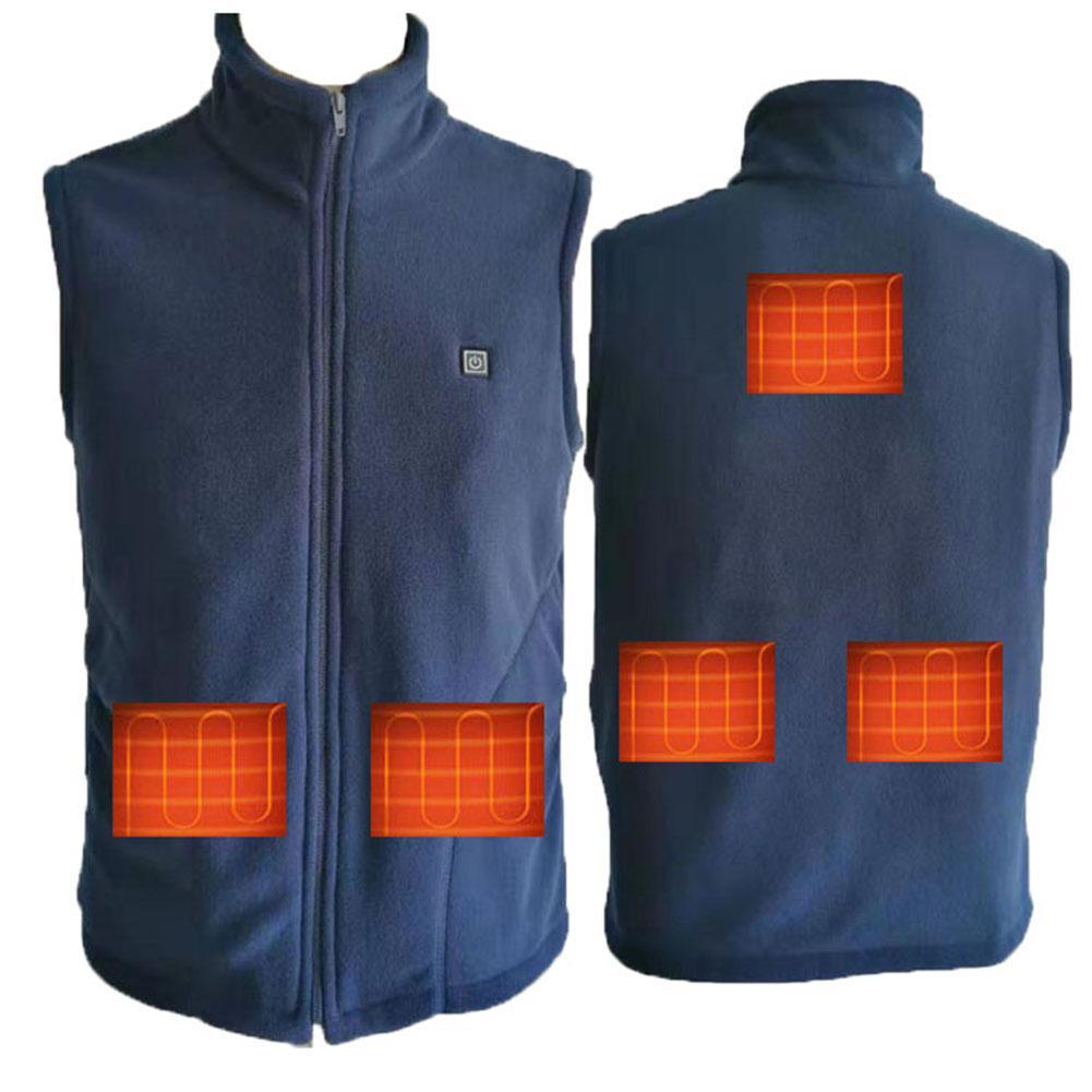 Heating Jacket Graphene Thickened Fleece Heating Vest Smart …