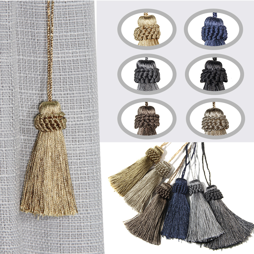 2Pcs/Lots Hanging Rope Tassels Sewing Clothing Curtain Fringe Home Decoration Craft Room Accessories Fluffy Tassels