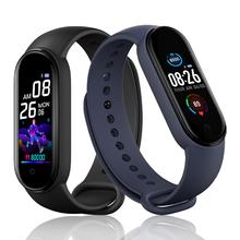 M5 inteligentne zegarki z Bluetooth mężczyźni Smarthwatch Sport Tracker Fitness krokomierz z pomiarem akcji serca opaska monitorująca monitora zdrowie nadgarstek tanie tanio mussels CN (pochodzenie) Brak Na nadgarstek Zgodna ze wszystkimi 128 MB Rejestrator aktywności fizycznej Rejestrator snu