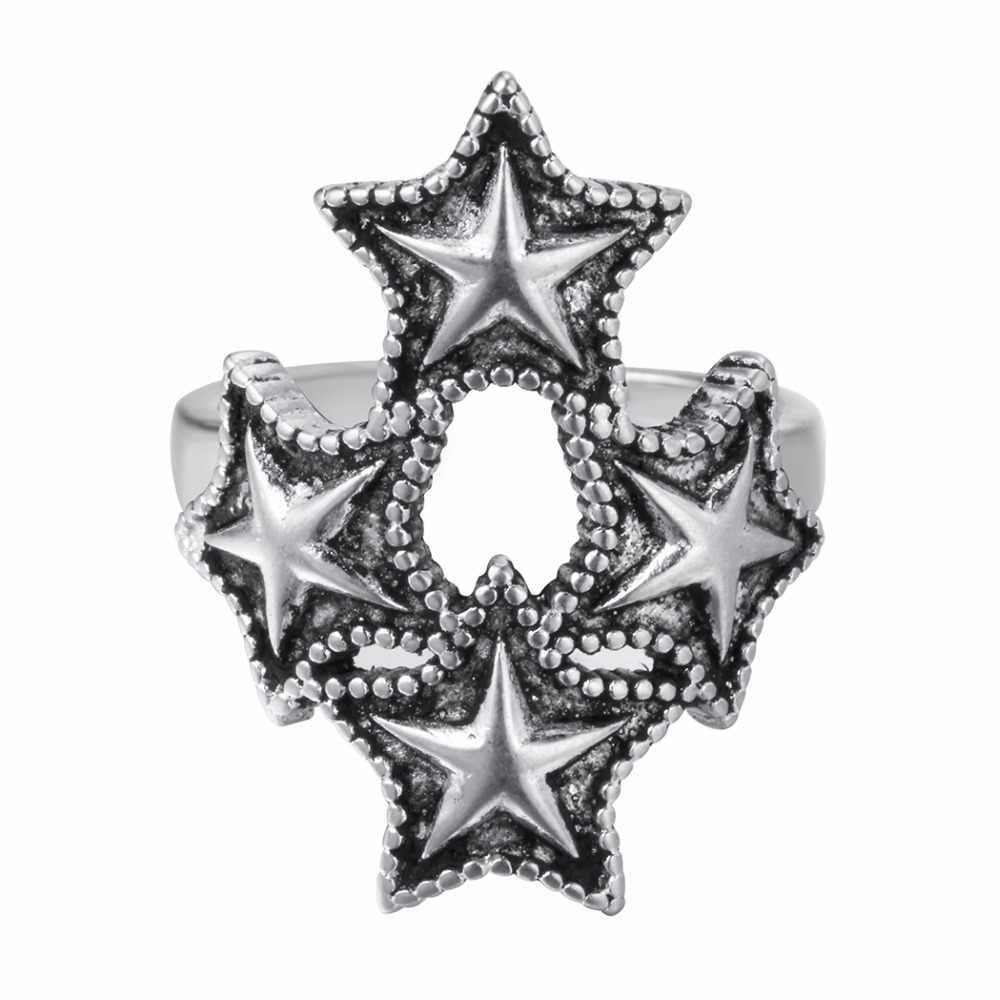Винтажные кольца с большими звездами LadiesTrendy friendly, винтажные кольца с регулируемым кольцом, подарок на день рождения для женщин и мужчин
