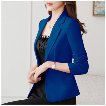 2020 Fashion Spring Autumn Blazers Jackets Women Long Sleeve One Button Female Blazer Yellow Red White Coat Outerwear Green 2020 fashion hot new women blazers and jackets long sleeve slim blazer ruffle short blazer design candy color outerwear