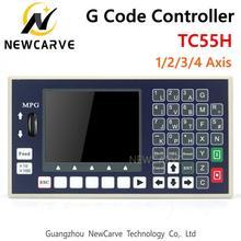 Controlador de código g tc55h, placa de controle do eixo de 1 2 3 4 mpg sozinha para moagem cnc controlador de máquina newcarve