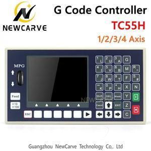 Image 1 - Контроллер кода G TC55H, USB Флешка 1 2 3 4 оси, панель управления шпинделем, MPG автономный фрезерный станок с ЧПУ, контроллер NEWCARVE