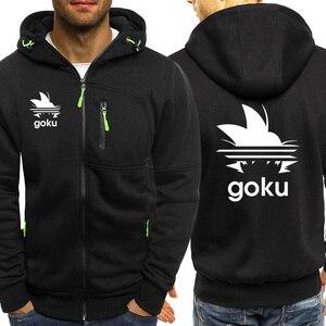 Image 2 - Outono venda quente dragon ball hoodies dos homens moda zíper moletom com capuz anime goku jaqueta casual japonês harajuku streetwear
