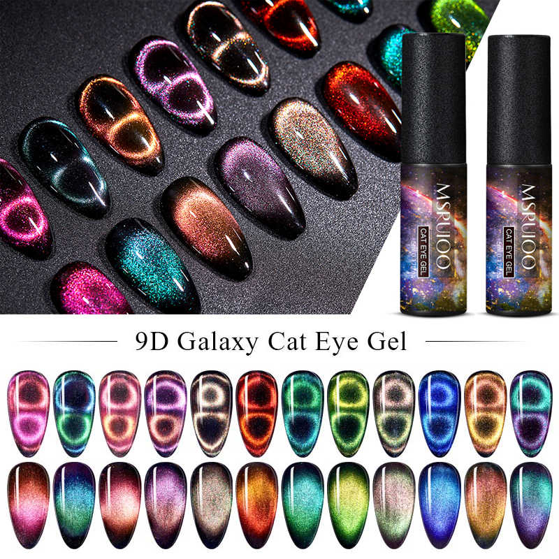 Esmalte de Gel camaleónico MSRUIOO 9D Galaxy Cat Eye, esmalte de uñas semipermanente con UV/LED, 5ml