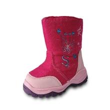 1 пара снежных ботинок наивысшего качества; кожаные лыжные Детские Зимние теплые ботиночки; детская обувь для девочек