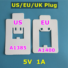 10pcs/lot EU US UK Plug AC Travel Wall Charger A1400 A1385 A1399 USB Power Adapter For i5s SE 6s 7 8 Plus XR XS Max Home Charger